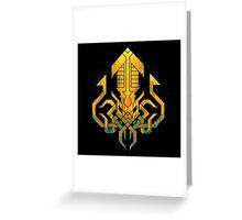 Golden Kraken Sigil Greeting Card
