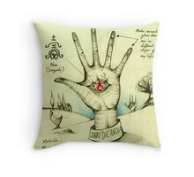 My Epitaph ( My Left Hand ) Throw Pillow