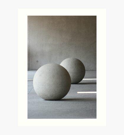 Round Sculptures Art Print