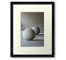 Round Sculptures Framed Print