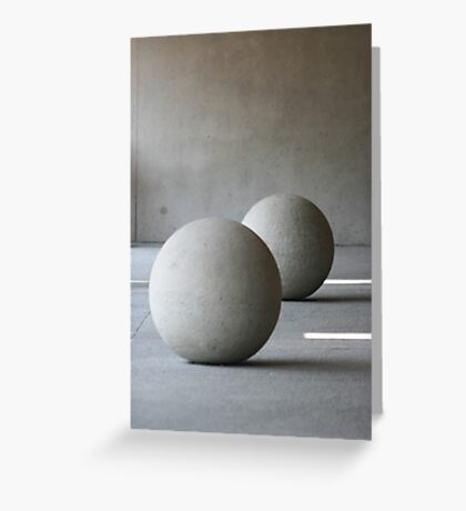 Round Sculptures Greeting Card
