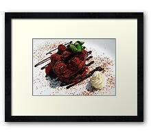 Product photography: dessert Framed Print