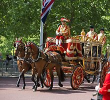 Horse drawn carriage on its way to the State Opening Of Parliament London by Keith Larby