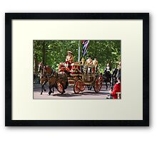 Horse drawn Carriage on its way to the State Opening Of Parliament London Framed Print