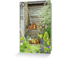 Outside the potting shed Greeting Card