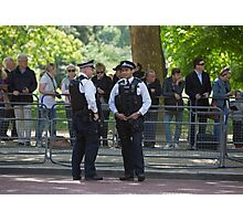 Police officers in the mall during the State Opening Of Parliament London Photographic Print