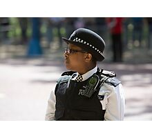 Police officer on duty during the State Opening Of Parliament London Photographic Print