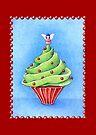 Christmas Tree Cupcake red by Mariana Musa