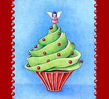 Christmas Tree Cupcake red by mrana