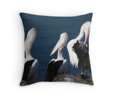 A --------- of Pelicans Throw Pillow