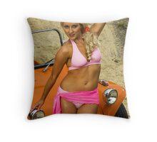 Beach Glamour Throw Pillow