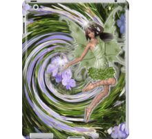 Nature spirits on flowers iPad Case/Skin