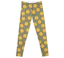 Spring Sunflower Pattern Leggings