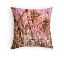 Pink Jungle Throw Pillow