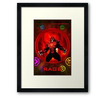 The Lantern Corps - Rage Framed Print