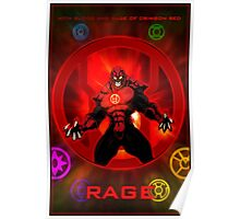 The Lantern Corps - Rage Poster