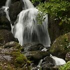 Waterfall in the lakes by Phil Parkin