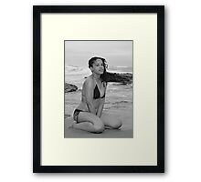 Pearl of the Pirates of the Caribbean! B&W Framed Print