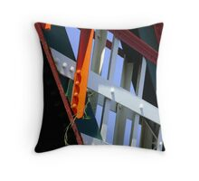 amid steel (plant and bridge-girders) Throw Pillow