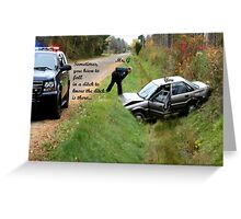 Ditch Lesson Greeting Card