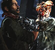 The Last of Us - Joel and a Clicker FIghting  by TylerMellark