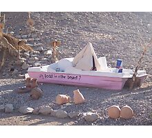 Why Boat in the Desert? Photographic Print