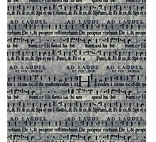 Retro Vintage Music Notes Pattern Photographic Print