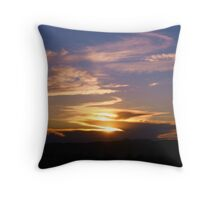 Cloudy New Mexico Sunset Throw Pillow