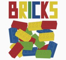 Colored Bricks [Large] by Customize My Minifig Baby Tee