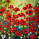&quot;Poppy Triptych&quot; - oil painting by Avril Brand