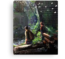 The Last of Us - Joel and Ellie Walking in the City Canvas Print