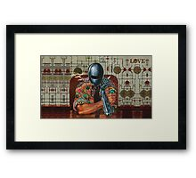 Retro-Robot Love ver.2 Framed Print