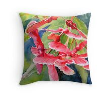 Red Maple Seeds Throw Pillow