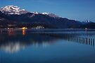 Nightfall on Annecy lake by Patrick Morand