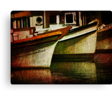 Down Time at the Docks Canvas Print
