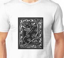 Koi Carp Lino Print Unisex T-Shirt