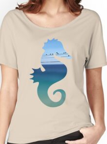 CRETAN SEA & BIRDS I Women's Relaxed Fit T-Shirt