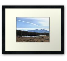 Fall Mountain Meadow With A View Framed Print