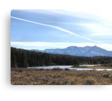 Fall Mountain Meadow With A View Canvas Print