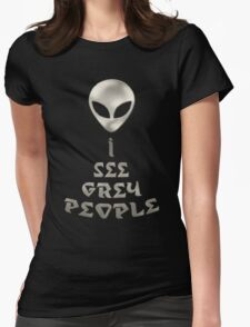 *I See Grey People* Womens Fitted T-Shirt