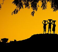 The Golden Hour in a Village by Mukesh Srivastava