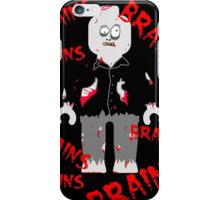 A LOT OF BRAINS - ZOMBIE MINIFIG iPhone Case/Skin