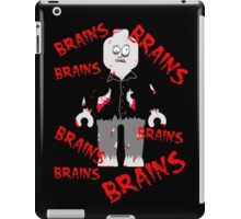 A LOT OF BRAINS - ZOMBIE MINIFIG iPad Case/Skin