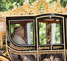 The Queen at State Opening Of Parliament London by Keith Larby