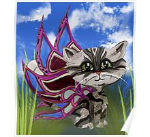 Feline Pixie, Frixie, Marble Cat Poster
