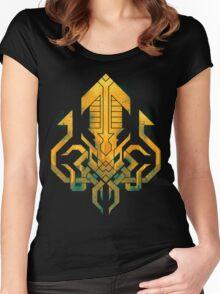 Golden Kraken Sigil Women's Fitted Scoop T-Shirt