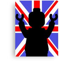 Minifig Union Jack Canvas Print
