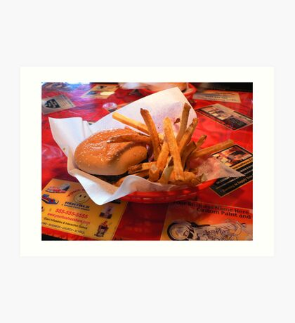 """Burger and Fries"" Art Print"