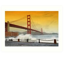 San Francisco Golden Gate Bridge Art Print