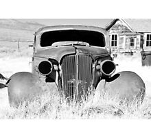Bodie Ghost Town, Old Rusty Car Photographic Print